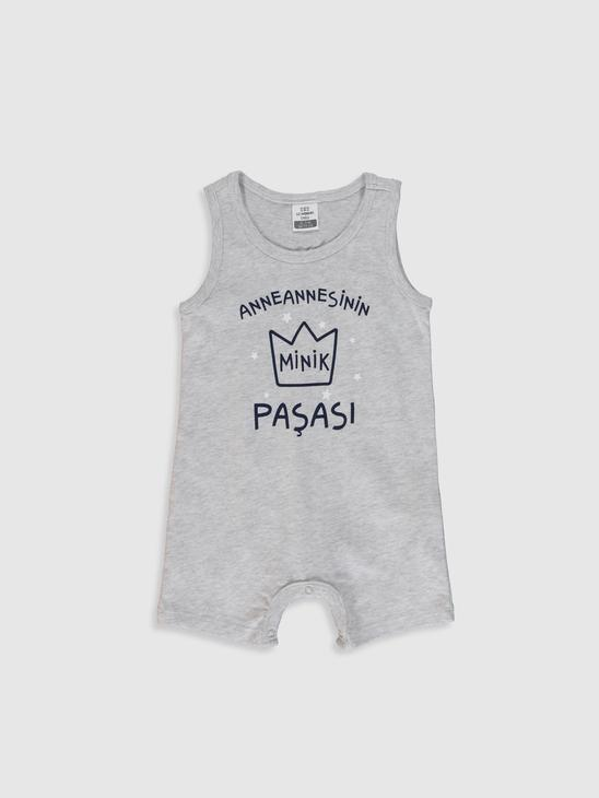 GREY - Baby Boy's Letter Printed Jumpsuit - 0S7389Z1