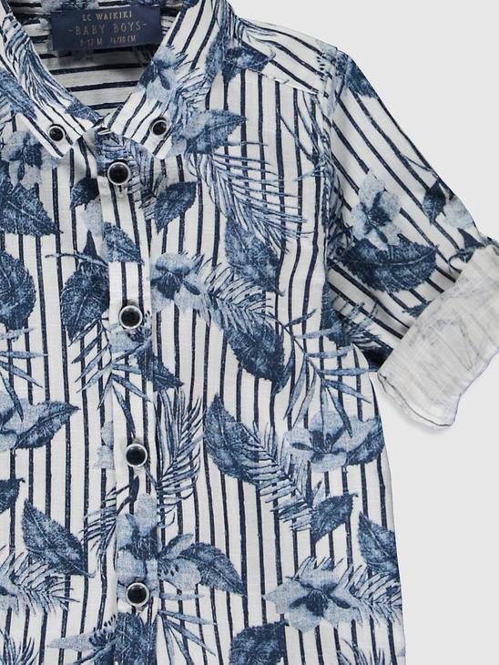 NAVY - Baby Boy'sPrinted Cotton Shirt Family Matching - 0SD486Z1