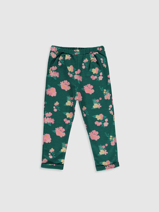 GREEN - Baby Girl's Figured Trousers - 9WY426Z1