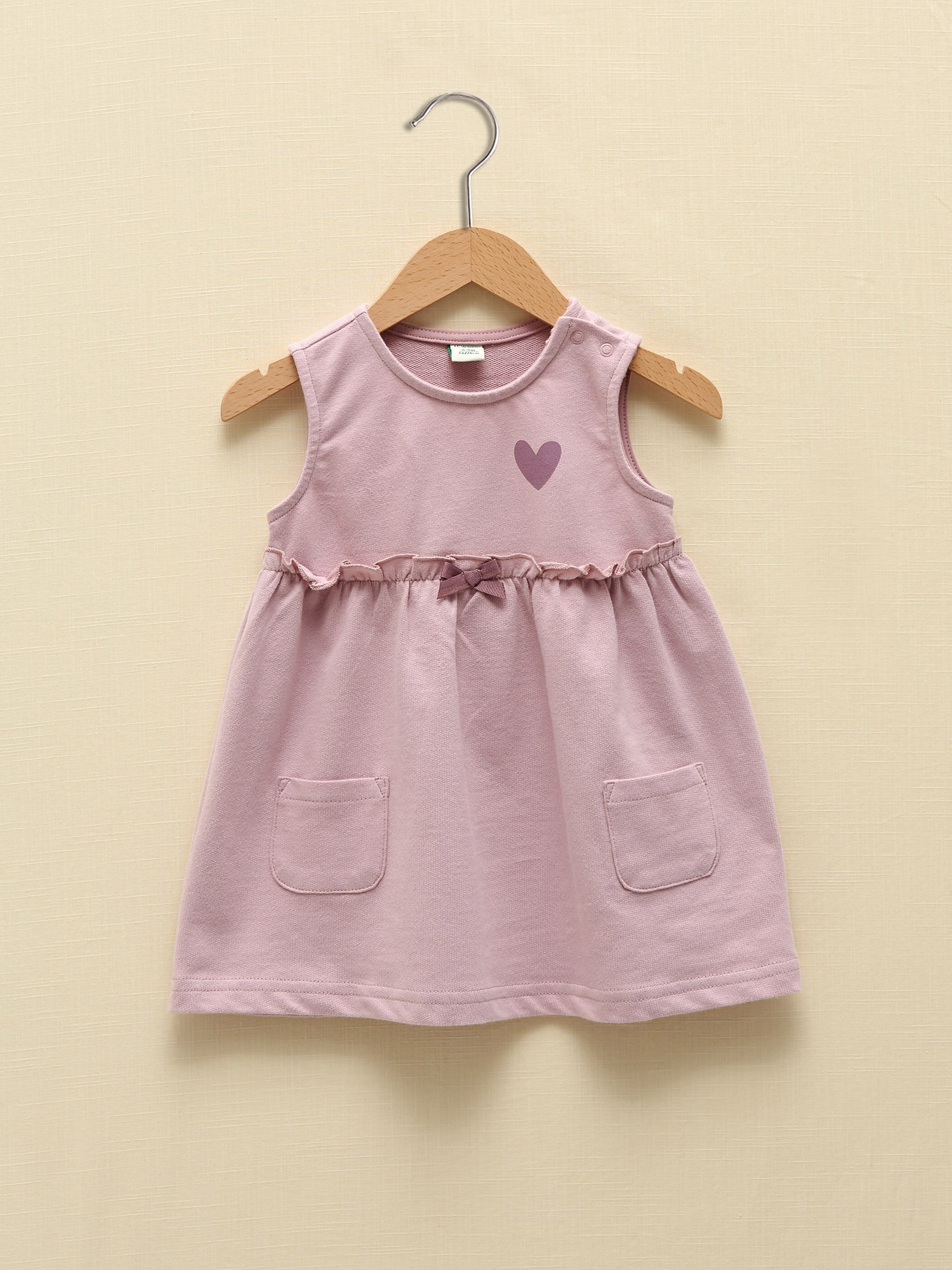 LILAC - Crew Neck Sleeveless Organic Cotton Baby Girl Dress - S1CO64Z1