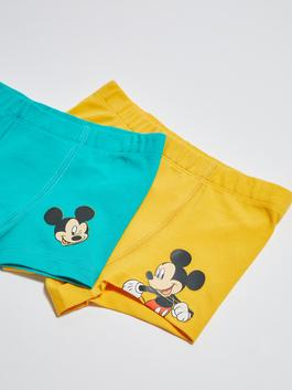 ORANGE - Crew Neck Mickey Mouse Printed Baby Boy Boxer 2 Pieces