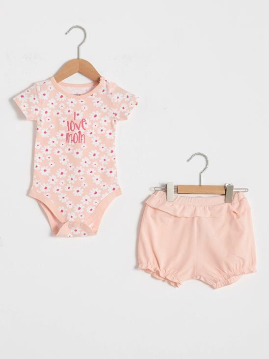 PINK - Baby Girl Snaps Body and Shorts - S18054Z1