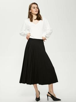 BLACK - MODEST Elastic Pleated Women Skirt