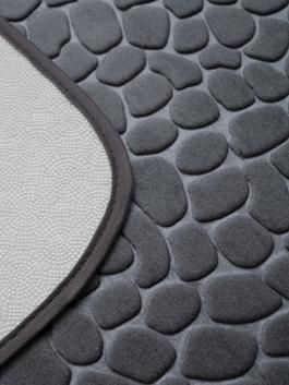 GREY - Patterned Well Soft Bath Mat in 2 Pieces - S1AK13Z8
