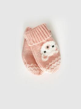 PINK - Baby Girl's Tricot Gloves