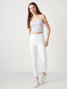 WHITE - High Waist Slim Fit Women Jeans