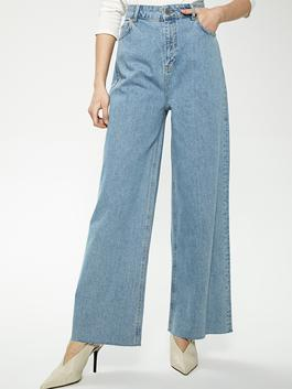 INDIGO - Loose Leg Jeans with Pocket