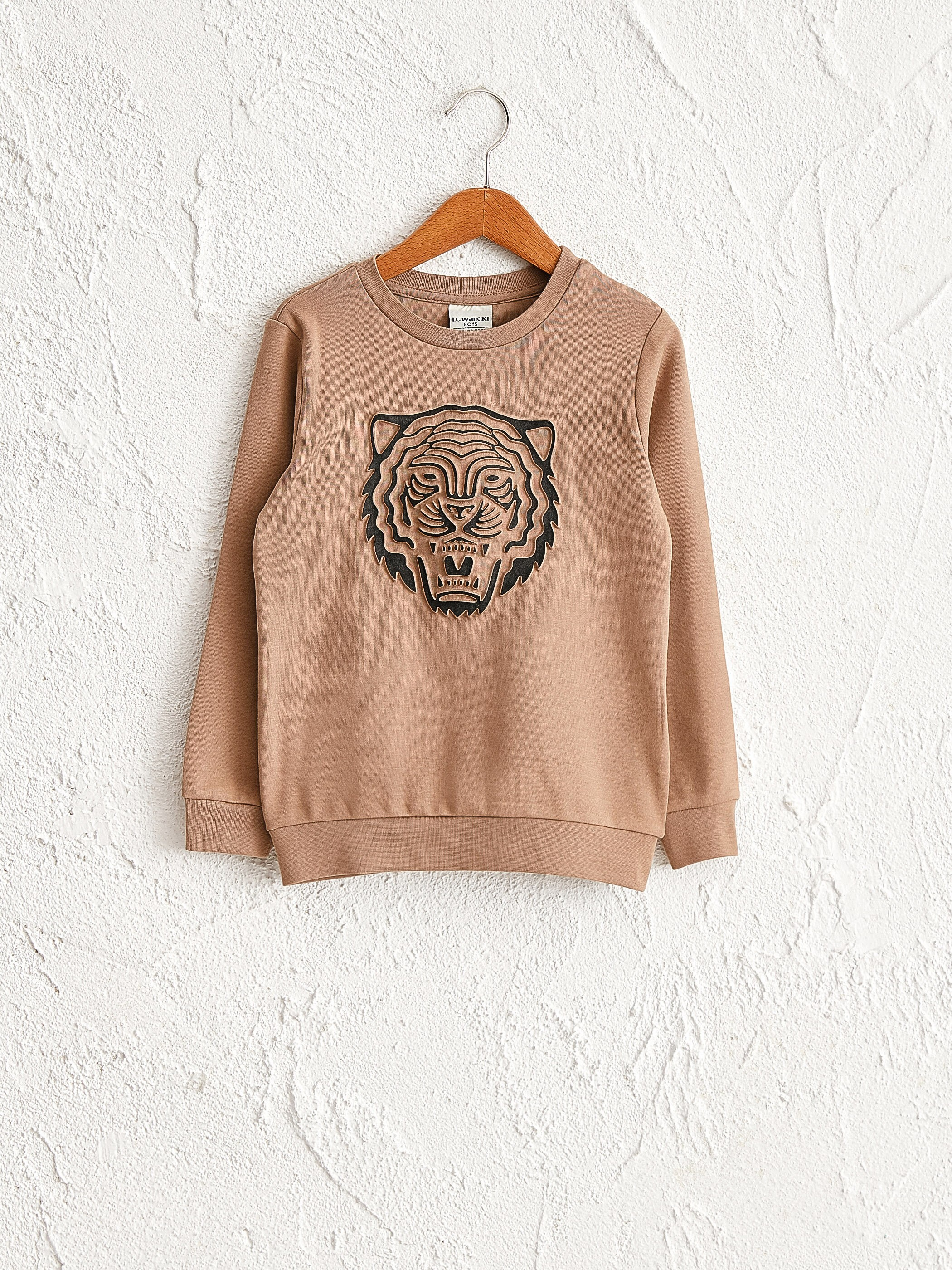 BEIGE - Boy's Printed Sweatshirt Father and Son Matching - 0WAG98Z4