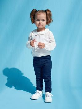 INDIGO - Basic Baby Girl Jean Trousers