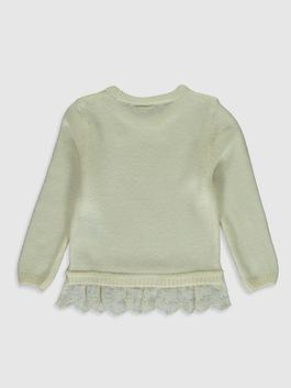 ECRU - Crew Neck Sequins Embroidered Long Sleeve Girls Thick Knitwear Sweater - 0W5117Z4