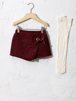 BORDEAUX - Baby Girl's Shorts and Tights