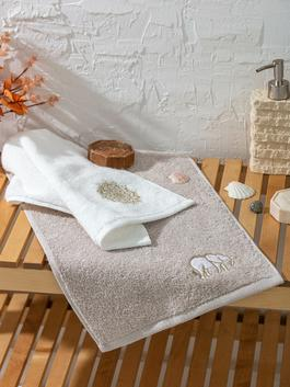 ECRU - Ethnic Embroidered Hand Towel 2 Pieces