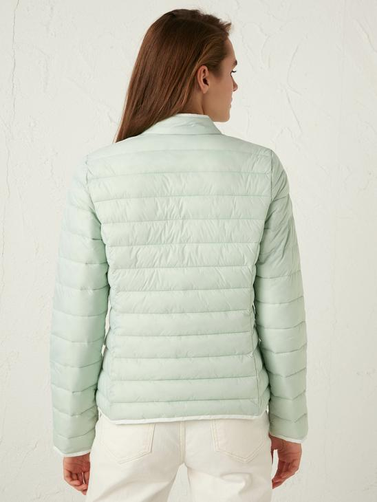 GREEN - Vertical Collar Thin Inflatable Coat - S12032Z8