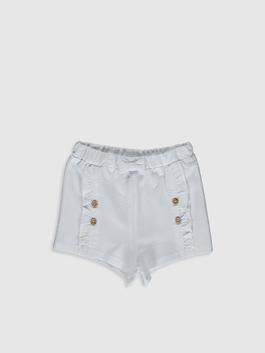 WHITE - Baby Girl's Shorts