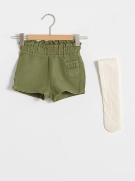 GREEN - Baby Girl's Shorts and Tights