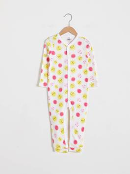WHITE - Baby Girl's Printed Jumpsuit