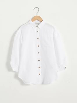WHITE - Girl's Poplin Shirt