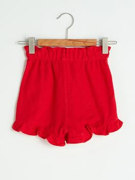RED - Basic Baby Girl Shorts With Elastic Waist - S1JF52Z1