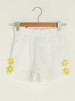 WHITE - Baby Girl Shorts With Elastic Waist - S1FN34Z1