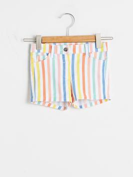 PINK - Baby Girl's Striped Gabardine Shorts