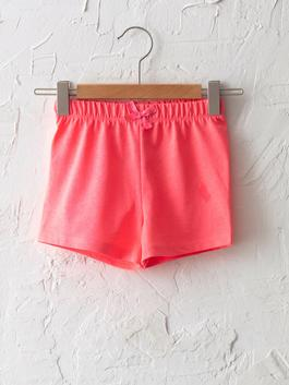 PINK - Basic Baby Girl Shorts With Elastic Waist - S16449Z1