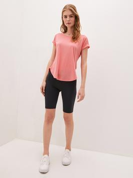 CORAL - Crew Neck Straight Short Sleeve Active Sports Women's T-Shirt - S1KF60Z8