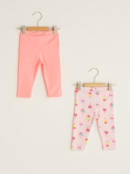 PINK - Elastic Waist Baby Girl Tights 2 Pieces - S1AE02Z1