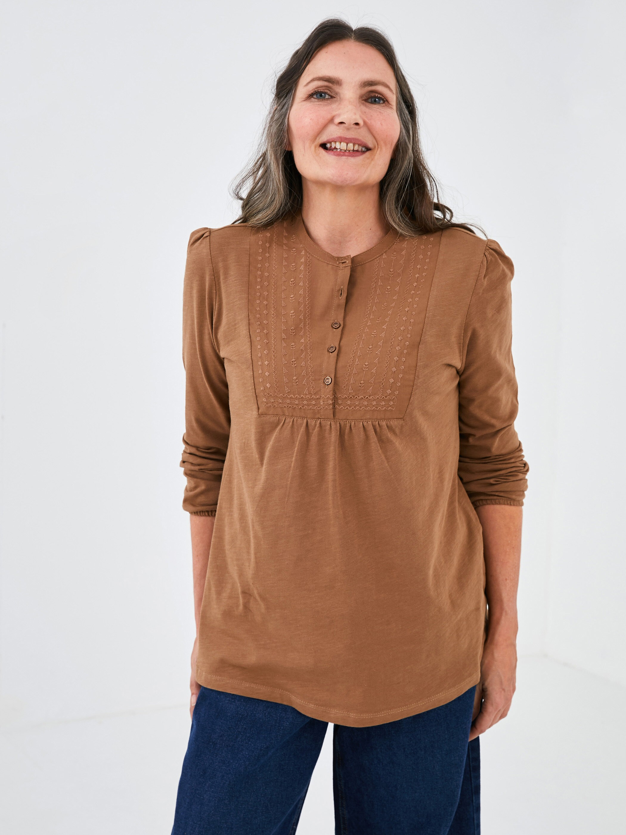 BROWN - Blouse - S1BY23Z8