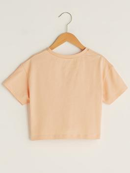 PINK - Crew Neck Printed Short Sleeve Girl's T-Shirt and Shorts - S1IK10Z4