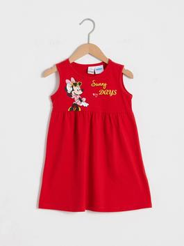 RED - Baby Girl's Minnie Mouse Printed Dress