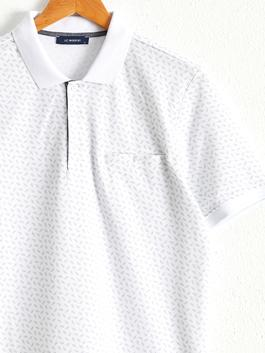 WHITE - Polo Neck and Short Sleeve Cotton T-Shirt - 0W5738Z8