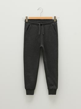 ANTHRACITE - Elastic Waist Boy Jogger Trousers - W11391Z4