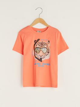 CORAL - Crew Neck Printed Short Sleeve Boy T-Shirt - S1AT15Z4