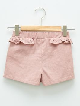 PINK - Basic Baby Girl Shorts With Elastic Waist - S1GB35Z1