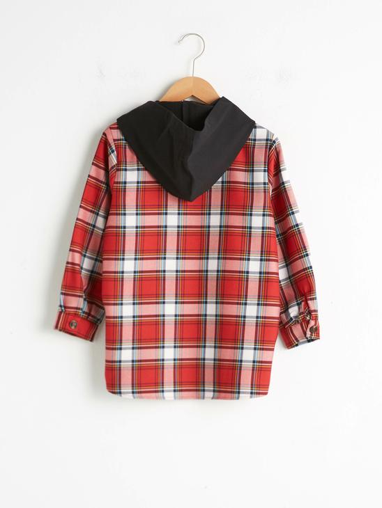 RED - Girl's Chequered Shirt - 0WIO84Z4