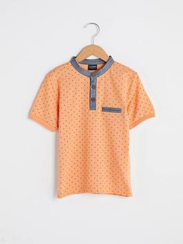 CORAL - Judge Collar Patterned Short Sleeve Boy T-Shirt - S19846Z4