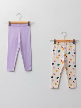 LILAC - Elastic Waist Baby Girl Tights 2 Pieces - W1BE86Z1