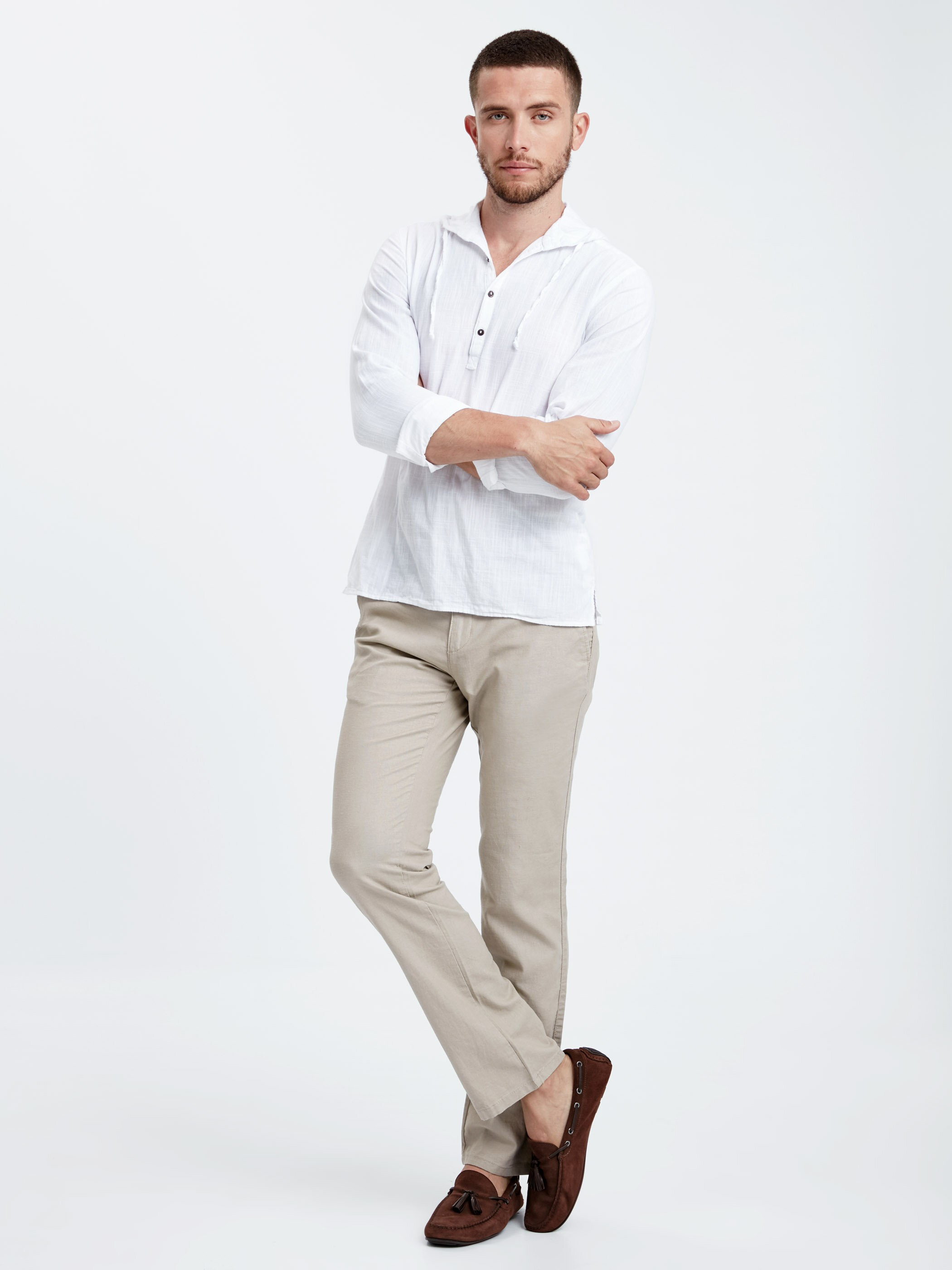 BEIGE - Chino Trousers - 8S5889Z8