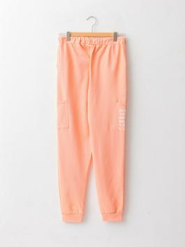 CORAL - Elastic Waist Printed Boy Jogger Trousers - W15828Z4