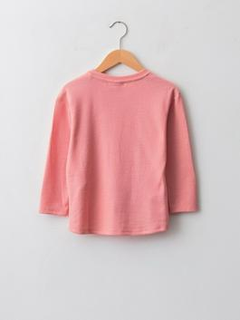 PINK - Crew Neck Printed Long Sleeve Girl's T-Shirt - W1AB59Z4