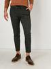 GREY - Slim Fit Chequered Poly Viscose Trousers - 0WHA54Z8