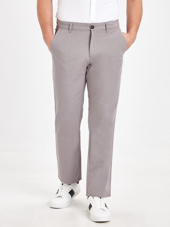 GREY - Normal Fit Men's Chino Trousers - 9S5337Z8