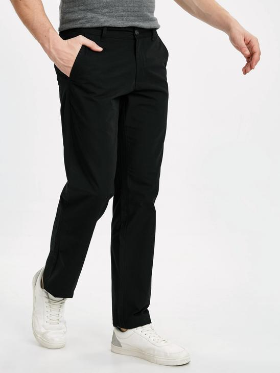 BLACK - Normal Fit Men's Chino Trousers - 9S5337Z8