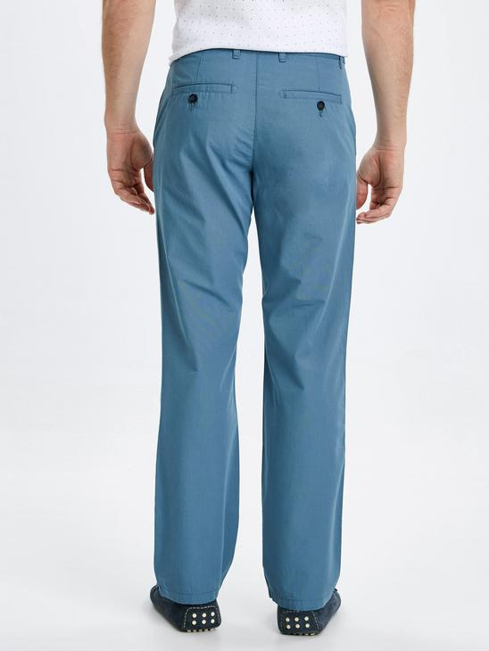 BLUE - Normal Fit Men's Chino Trousers - 9S5337Z8