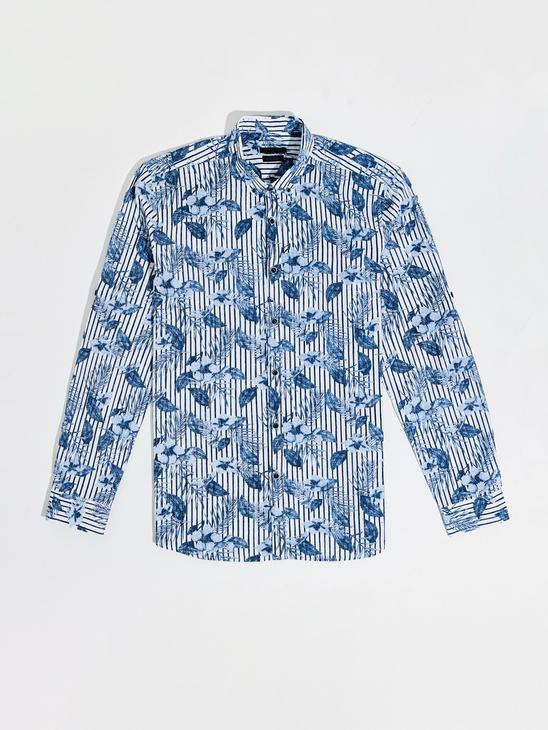 NAVY - Extra Slim Fit Figured Shirt Family Matching - 0SD483Z8