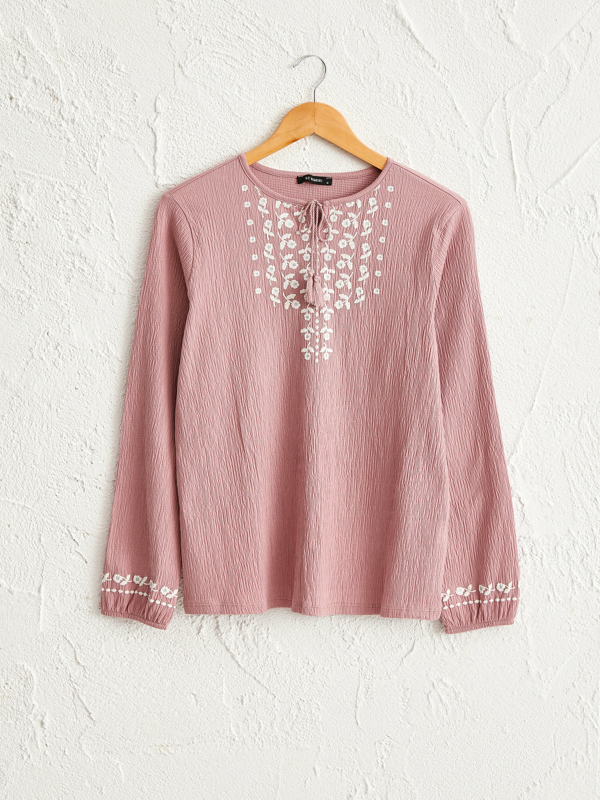 PINK - T-Shirt made of Textured Fabric - 0SAA82Z8