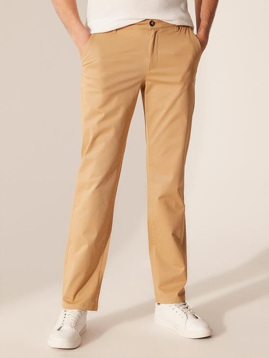 BEIGE - Normal Fit Gabardine Chino Trousers - 0S1738Z8